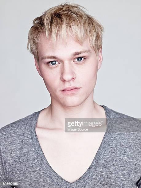 Portrait of a blond man