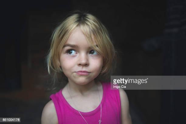 Portrait of a blonde child