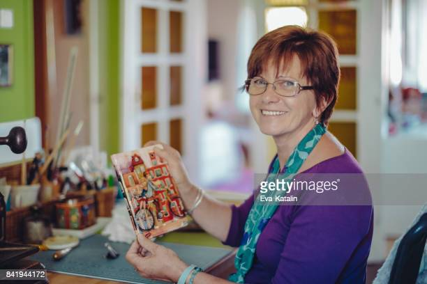 portrait of a bookbinder - authors stock photos and pictures