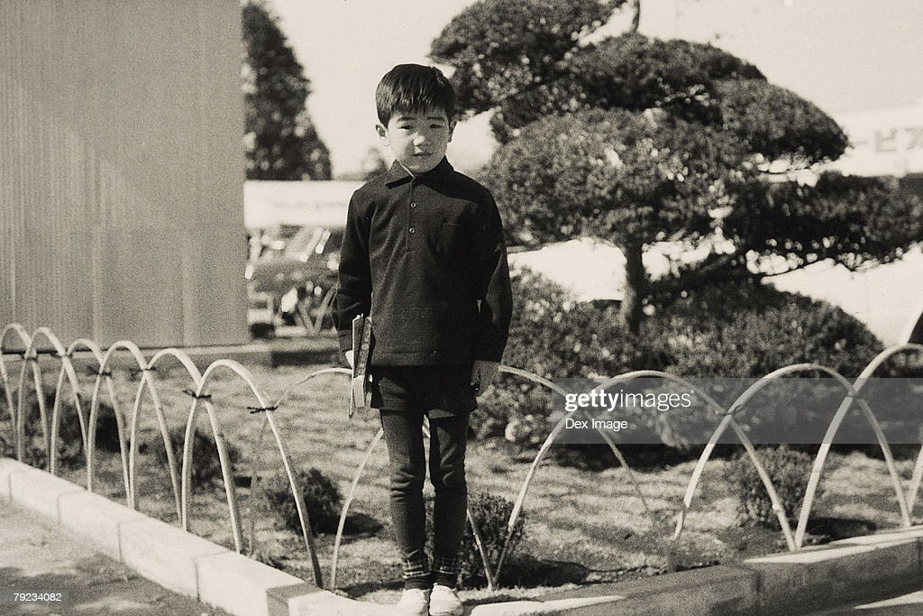Portrait of a boy at garden : Stock Photo