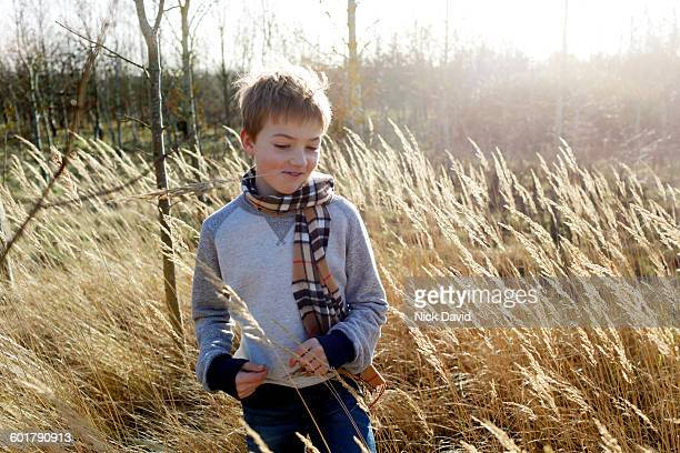 Portrait of a boy in the countryside