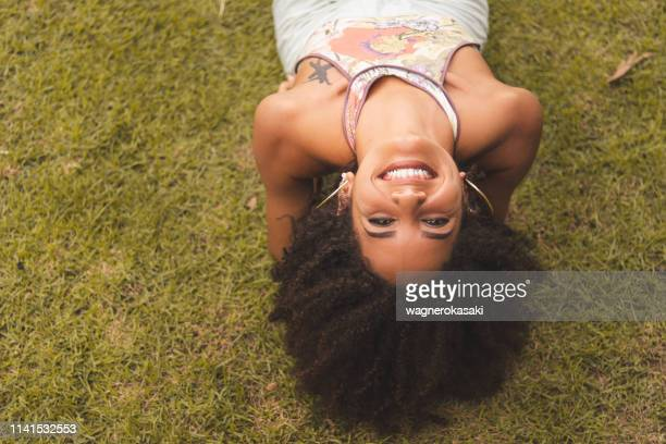 Woman Lying Down From Above