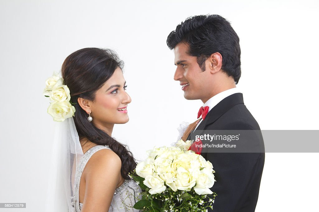 Portrait of a Bride and Bridegroom : Stock Photo