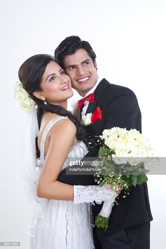 Portrait of a Bride and Bridegroom : Stock Photo