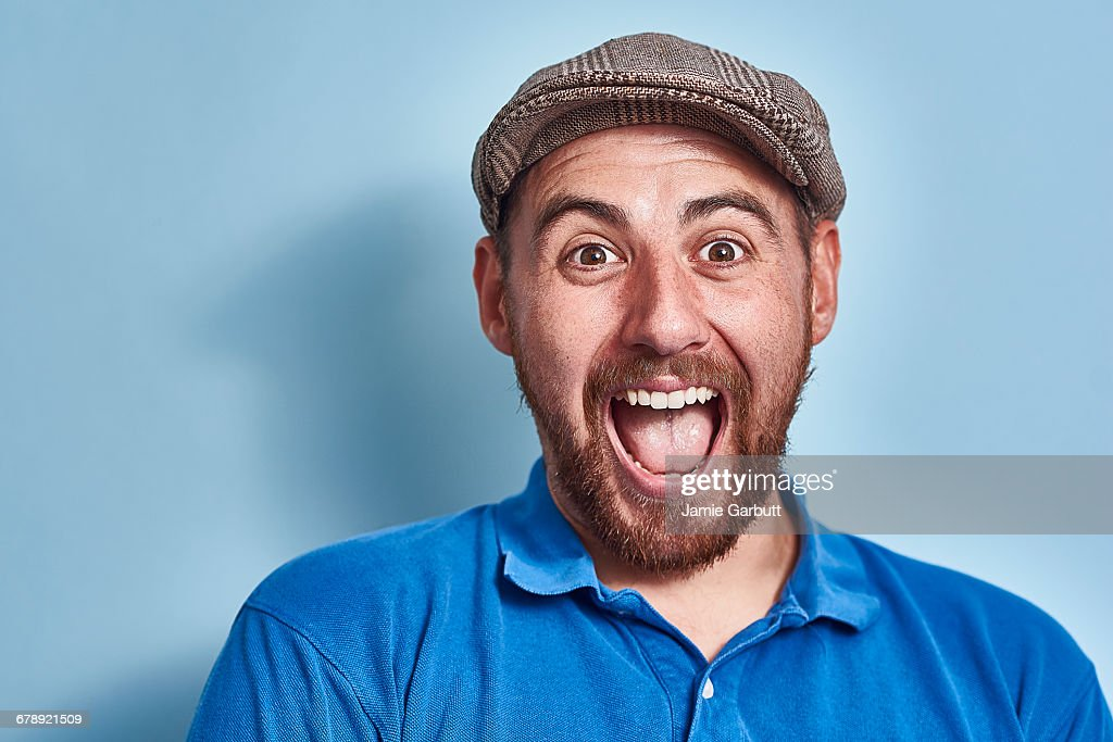Portrait of a British early 30's male : Stock Photo