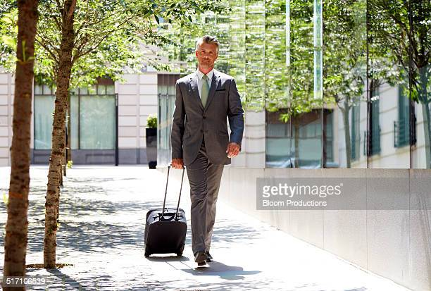 Portrait of a business man on the move