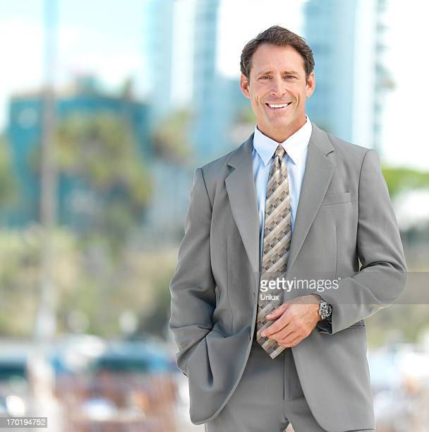 Portrait of a business man outside