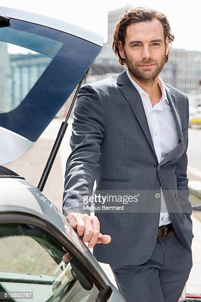 portrait of a business man. - open collar stock pictures, royalty-free photos & images