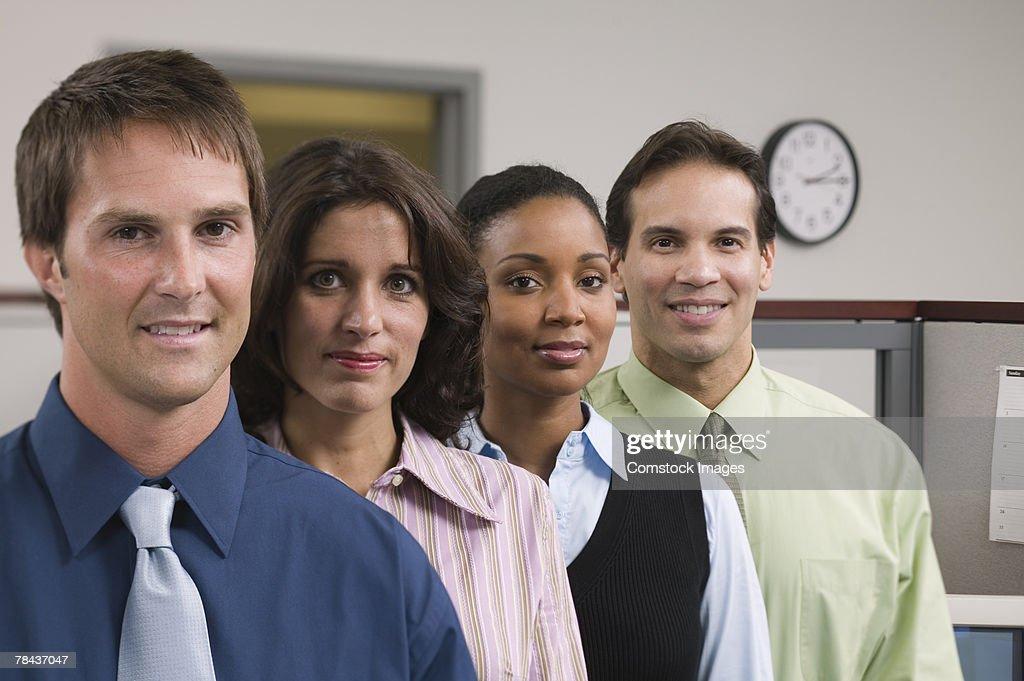 Portrait of a business team : Stockfoto