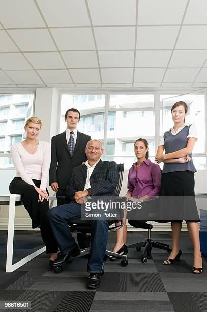 A portrait of a business team