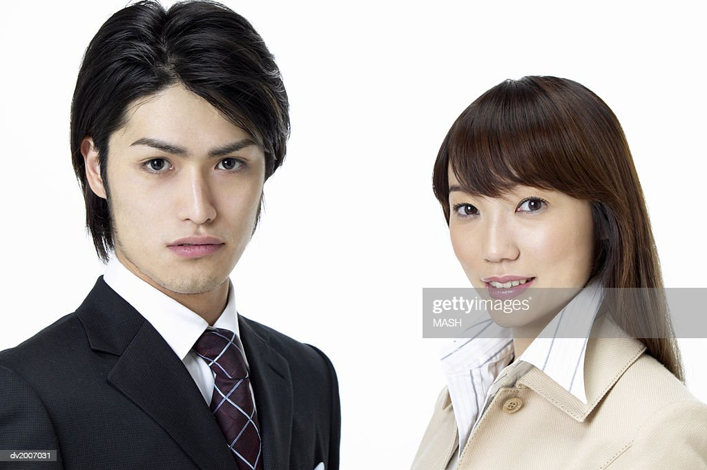 Portrait of a Businessman and Businesswoman : Stock Photo