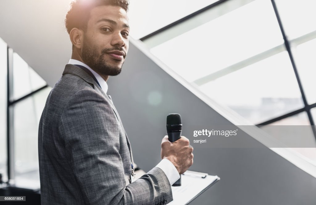 Portrait of a Businessman in the Board Room : Stock Photo