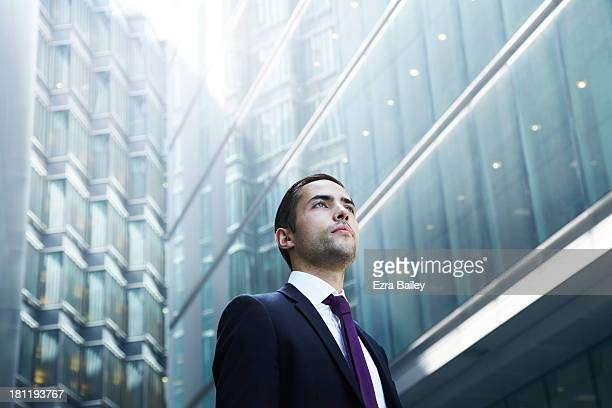 Portrait of a businessman in the city.