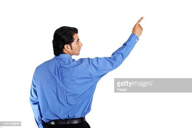 Portrait of a businessman, rear view