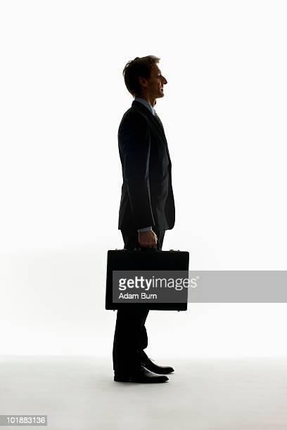 Portrait of a businessman, silhouette