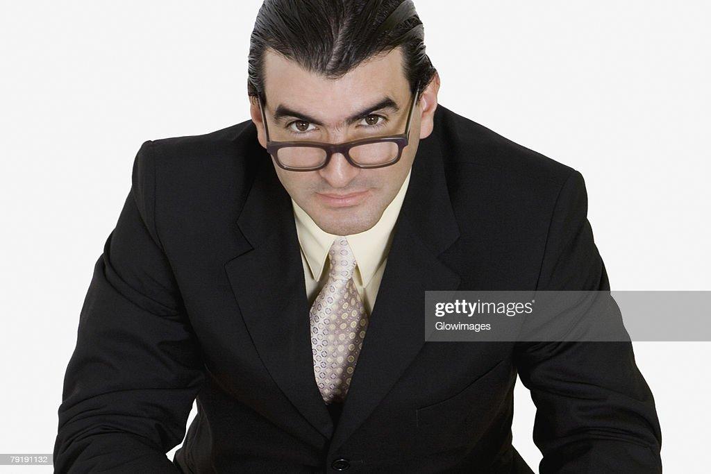 Portrait of a businessman wearing eyeglasses : Foto de stock