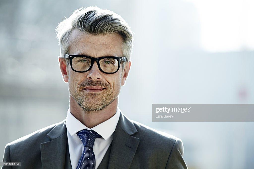 Portrait of a businessman wearing glasses. : Stock-Foto
