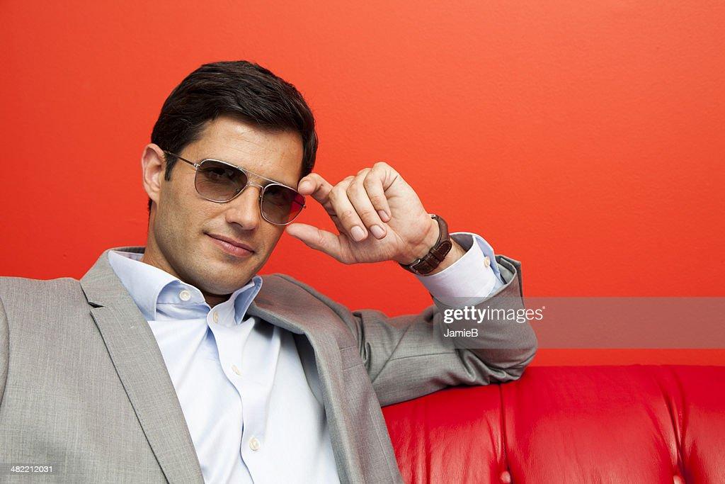 Portrait of a businessman wearing sunglasses : Stock Photo