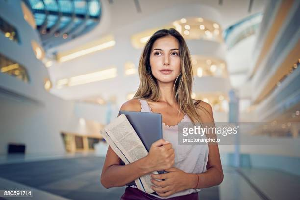 portrait of a businesswoman - secretary stock photos and pictures