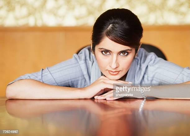 Portrait of a businesswoman thinking