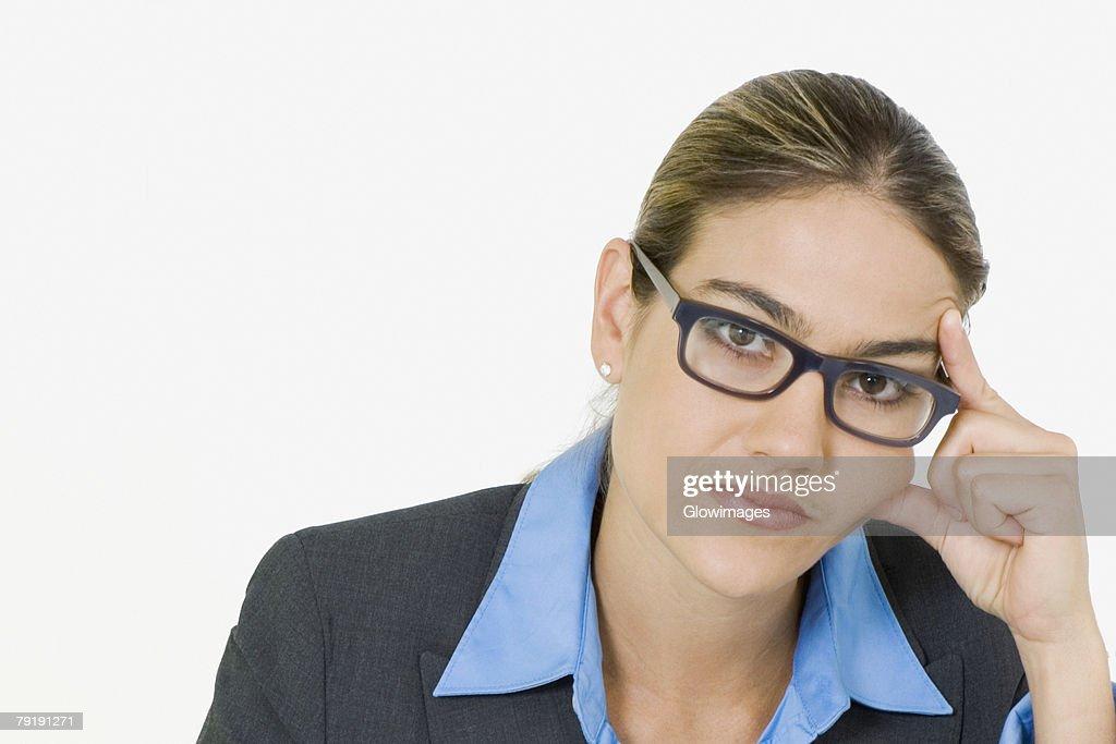Portrait of a businesswoman thinking : Foto de stock