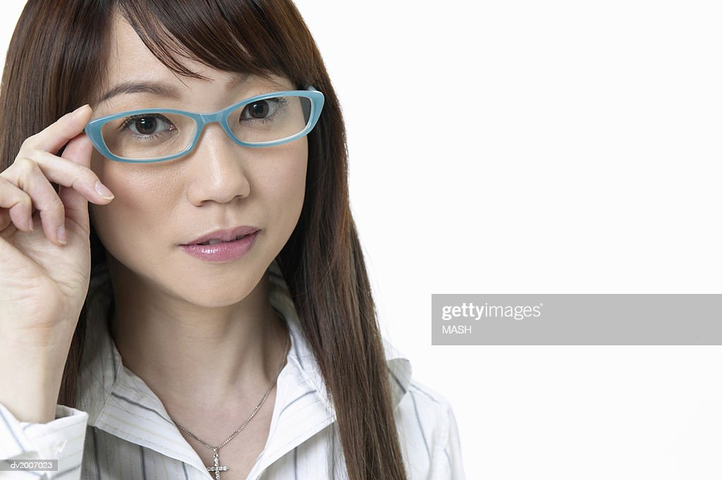 Portrait of a Businesswoman Wearing Spectacles : Stock Photo