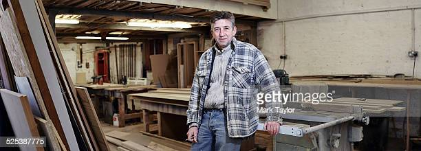 Portrait of a cabinet maker in his workshop