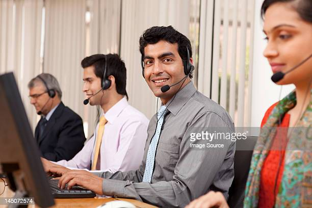 Portrait of a call center agent