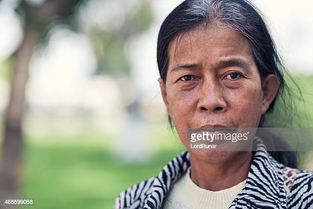 Portrait of a cambodian woman