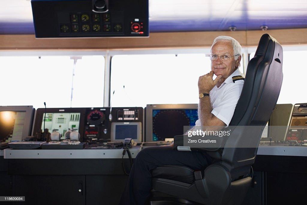 Portrait of a captain : Stock Photo
