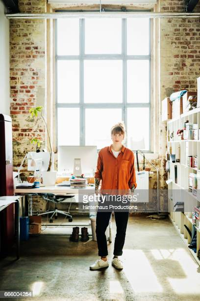 Portrait of a casual dressed young businesswoman