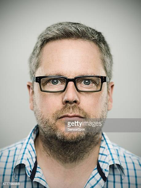 Portrait of a caucasian real man