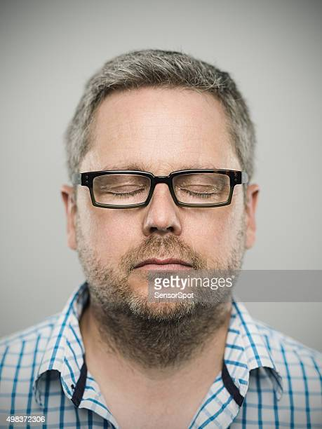 Portrait of a caucasian real man