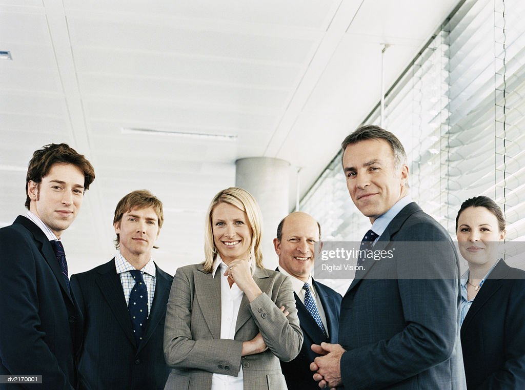 Portrait of a CEO With His Team of Business Executives : Stock Photo
