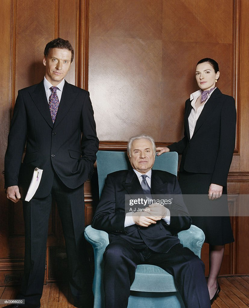 Portrait of a CEO With Two of His Business Colleagues : Stock Photo