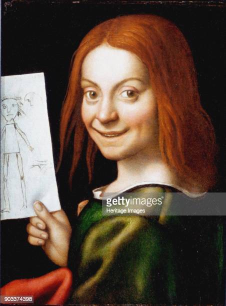 Portrait of a Child with a Drawing Found in the Collection of Museo di Castelvecchio Verona