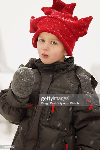 Portrait of a child with red hat