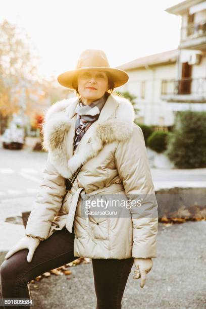 Portrait of a Classy Mature Woman Outdoors