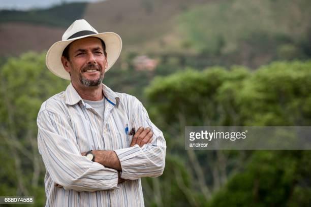 Portrait of a Colombian coffee farmer