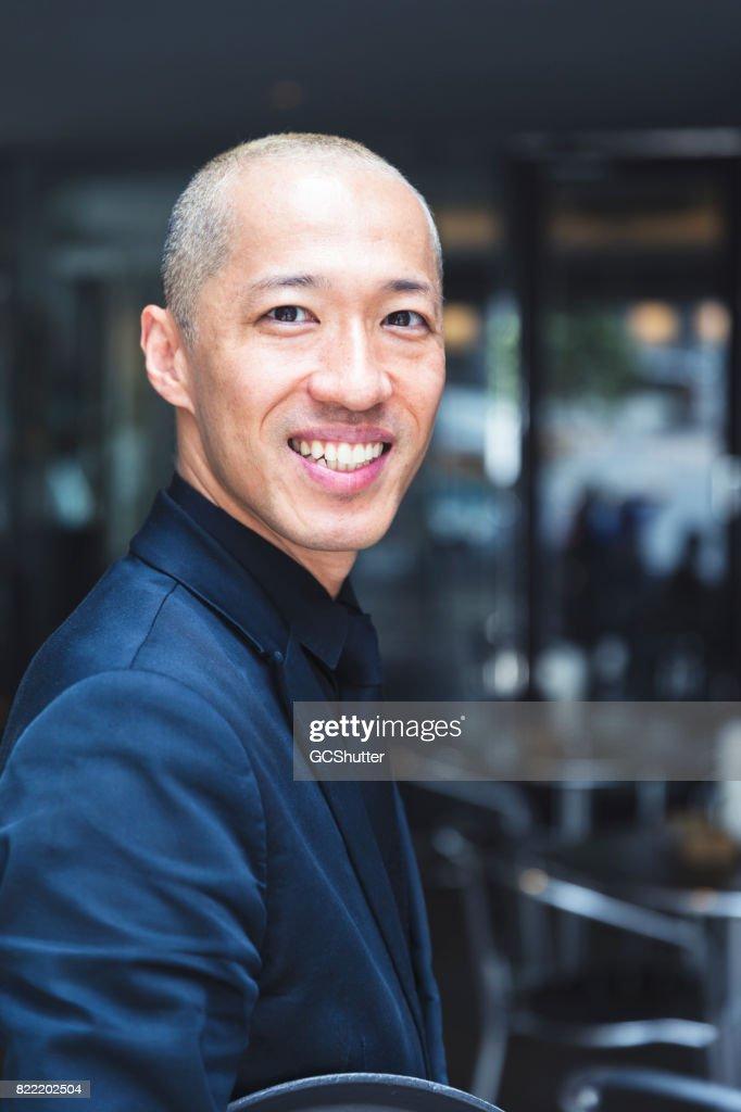 Portrait of a confident barista : Stock Photo