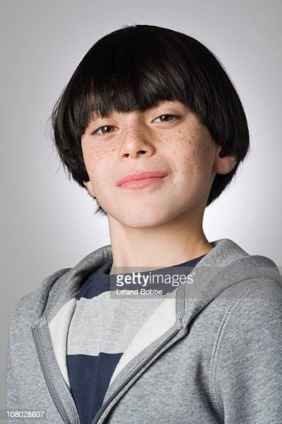 Portrait of a confident boy 9-11 years