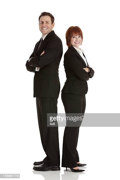 Porträt eines zuversichtlich business-Paar Lächeln