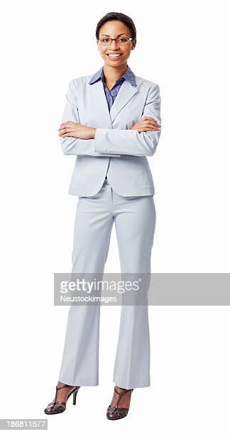 Portrait Of A Confident Female Executive Smiling - Isolated