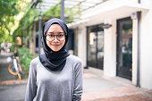 Portrait of a confident Muslim girl