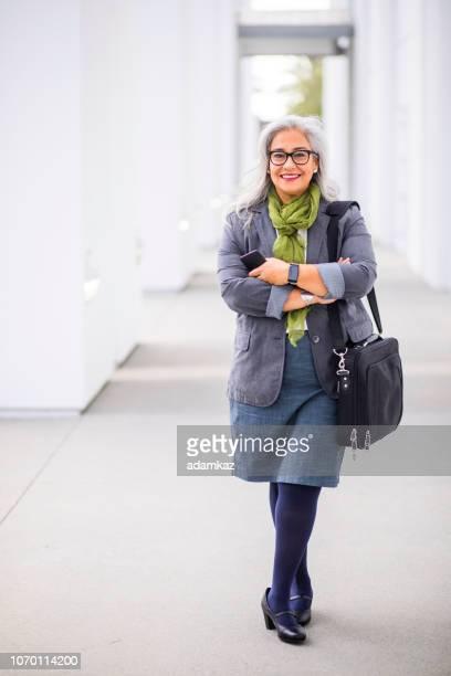 Portrait of a confident senior hispanic businesswoman