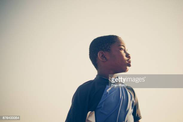 Portrait of a confident young african american boy.