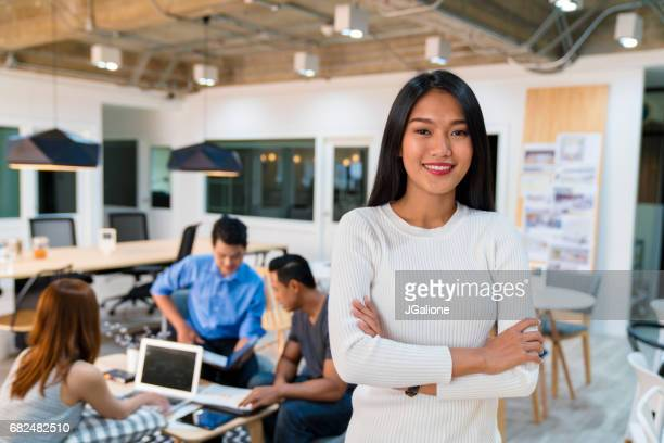 portrait of a confident young female entrepreneur - brilliant stock photos and pictures