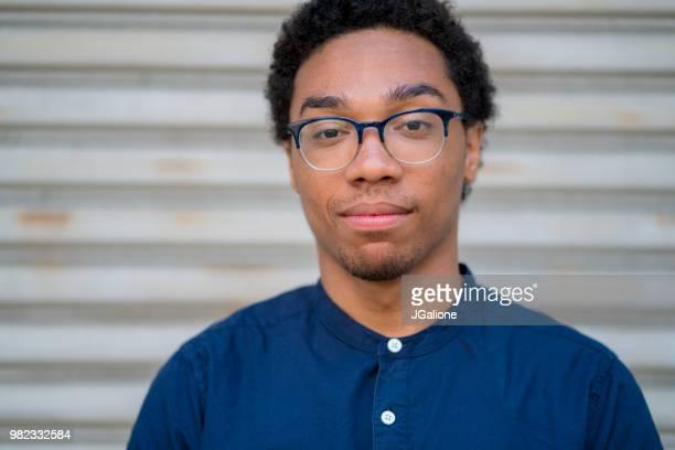 Portrait of a confident young male