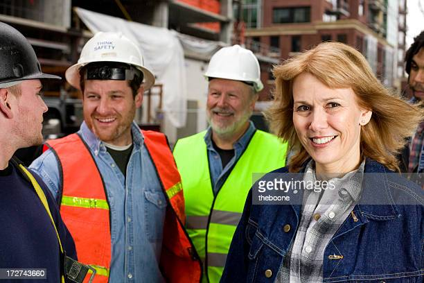 construction Travailleur portraits