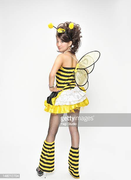 Portrait of a costume-player,Bee costume